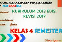 Download RPP matematika Kelas 4 semester 2 Kurikulum 2013 Revisi 2017