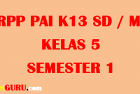 RPP PAI Kelas 5 Semester 1