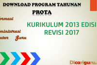 Download Prota K13 Revisi 2017 SD