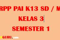 RPP PAI Kelas 3 Semester 1