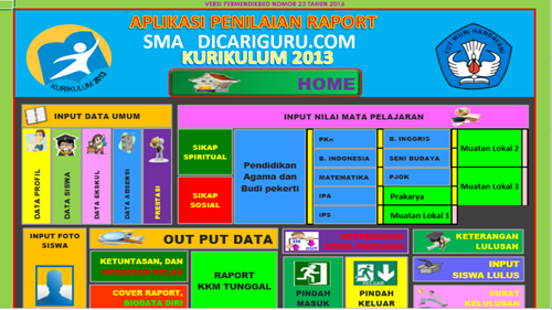 Download Aplikasi Raport k13 SMA / MA Revisi 2107 Gratis