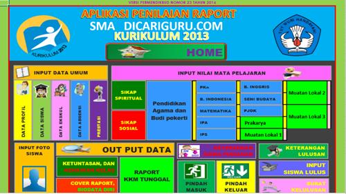 Download Aplikasi Raport K13 Sma Ma Revisi 2107 Gratis Dicariguru Com