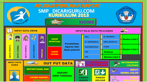 Download Aplikasi Raport k13 SMP / MTS Revisi 2107 Gratis