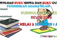 Download Buku PAI Kelas 3 Kurikulum 2013 Revisi 2018