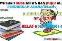 Download Buku PAI Kelas 6 Kurikulum 2013 Revisi 2018