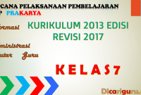 Download RPP Prakarya SMP Kelas 7 Kurikulum 2013 Revisi 2017