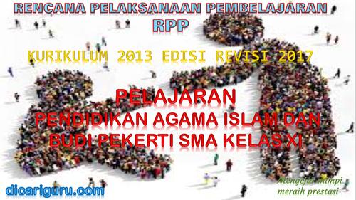 Download RPP PAI SMA / SMK Kelas 11 Kurikulum 2013 Revisi 2017