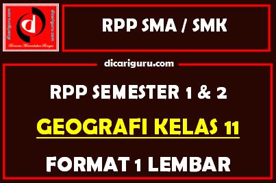 RPP 1 Lembar Geografi Kelas 11 Lengkap Semester 1 dan 2