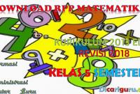 Download RPP K13 Matematika Kelas 5 Semester 1 Revisi 2018