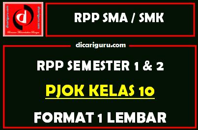 RPP 1 Lembar PJOK Kelas 10