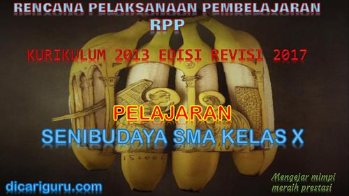 Rpp Seni Budaya Musik Sma Kurikulum 2013 Revisi 2017