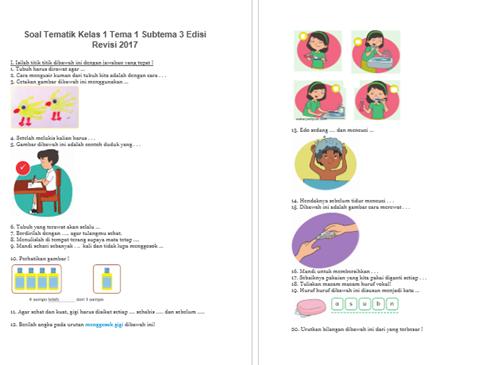 Download Bank Soal Kelas 1 Tema 1 K13 Revisi 2018