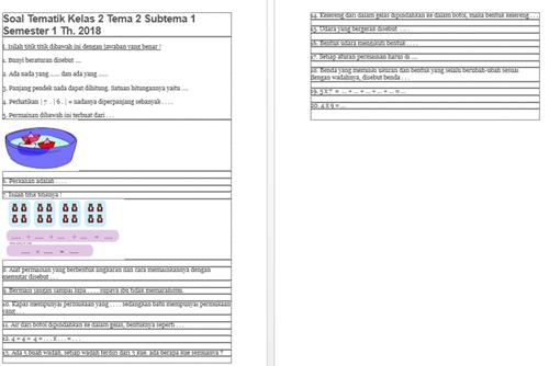 Download Bank Soal Kelas 2 Tema 2 K13 Revisi 2018