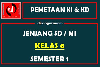 Pemetaan K13 Kelas 6 Semester 1