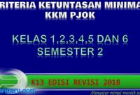 Download KKM PJOK Kelas 1,2,3,4,5 dan 6 K13 Revisi 2018 Semester 2