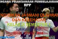 Download RPP PJOK Kelas IX K13 Edisi Revisi 2018 Semester 1
