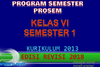 Download Prosem K13 Kelas 6 Revisi 2018 Semester 1