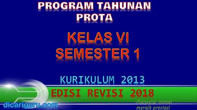 Download Prota K13 Kelas 6 Revisi 2018 Semester 1