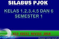 Silabus PJOK Kelas 1,2,3,4,5 dan 6 K13 Revisi 2018 Semester 1
