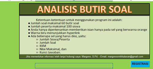 Aplikasi Analisis Soal Pilihan Ganda SD, SMP, SMA Kurikulum 2013 Revisi 2018