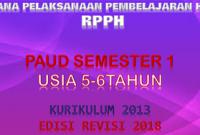Download RPPH PAUD usia 5-6 tahun K13 semester 1