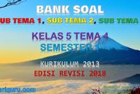 Download Soal Kelas 5 Tema 4 K13 Revisi 2018 dan Kunci Jawaban
