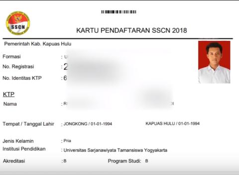 Proses Pendaftaran CPNS Bagian Unggah File dan Cetak Kartu