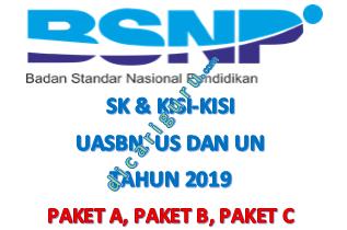 Kisi-kisi UASBN dan UN Paket A, Paket B, Paket C
