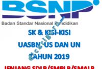 Kisi-kisi UASBN dan UN SDLB, SMPLB, SMALB