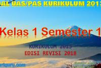 Soal PAS Kelas 1 Semester 1