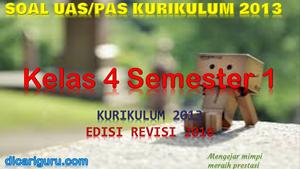 Soal PAS Kelas 4 Semester 1