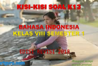Kisi-Kisi Soal Bahasa Indonesia Kelas 8