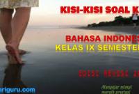 Kisi-Kisi Soal Bahasa Indonesia Kelas 9