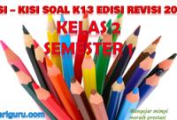 Kisi-Kisi Soal K13 Kelas 2
