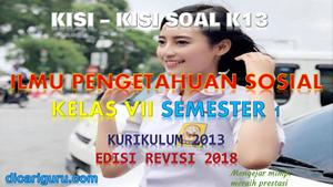 Kisi-Kisi Soal IPS Kelas 7