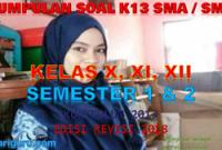 Bank Soal SMA / SMK Kurikulum 2013