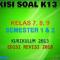 Download Kisi-Kisi Soal K13