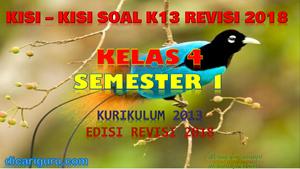 Kisi-Kisi Soal K13 Kelas 4