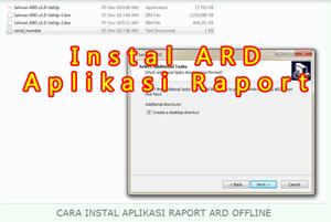 Cara Instal Aplikasi Raport ARD