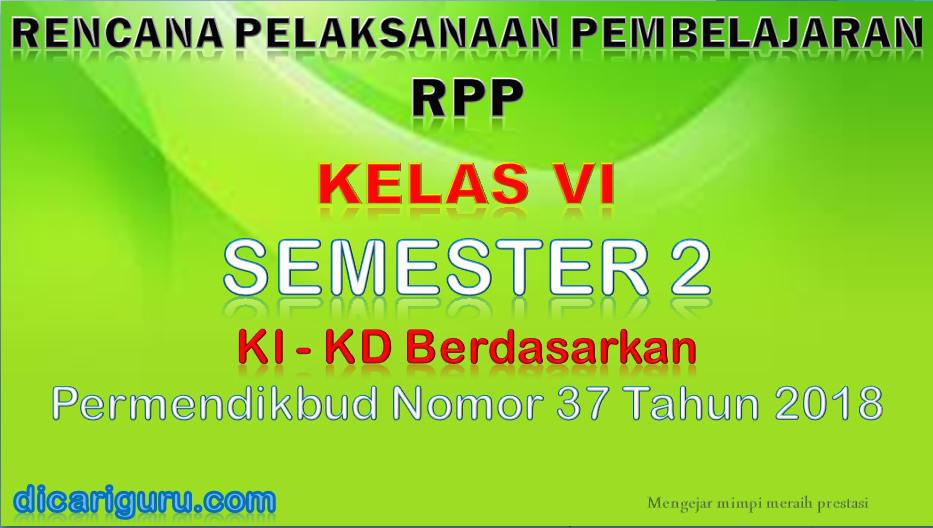 RPP Kelas 6 Semester 2