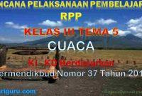 RPP Kelas 3 tema 5