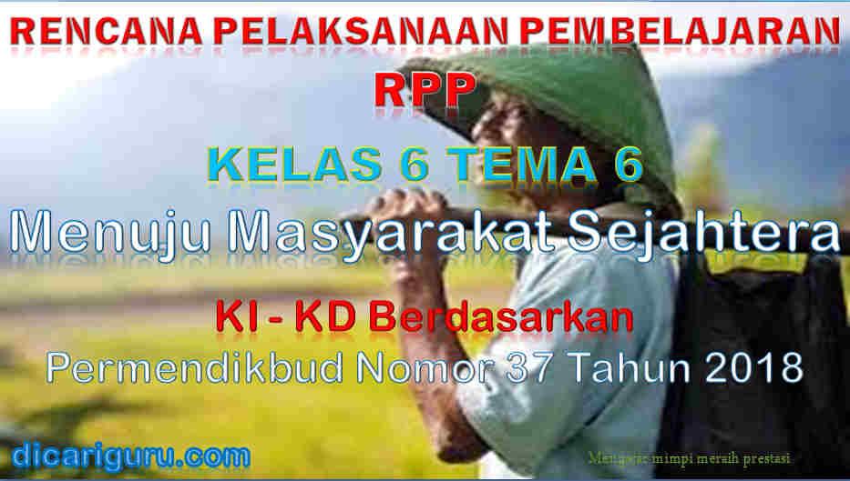 RPP Kelas 6 tema