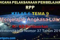 RPP Kelas 6 tema 9