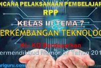 RPP Kelas 3 tema 7