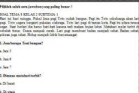 Soal Kelas 2 Tema 8