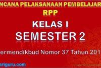 RPP Kelas 1 Semester 2