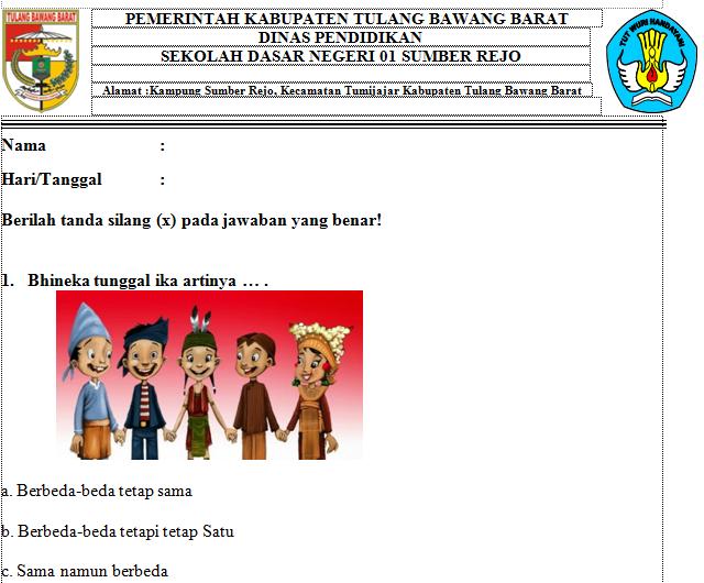 Soal Kelas 2 Tema 5