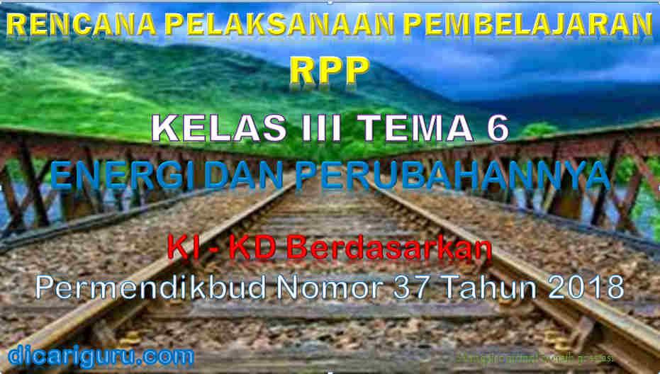 RPP Kelas 3 tema 6