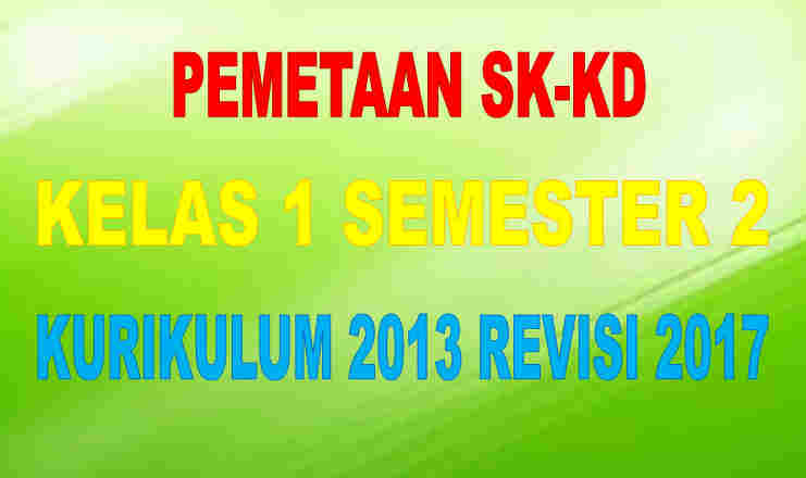 Pemetaan SK-KD Kelas 1 Semester 2