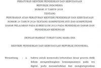 Permendikbud No 37 Tahun 2018 Tenytang KI dan KD Jenjang SD SMP SMA Tahun 2018